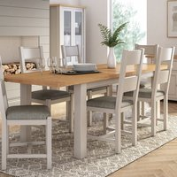Amberly Extending Large Wooden Dining Table In Grey