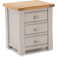 Amberly Wooden Bedside Cabinet In Grey With 3 Drawers