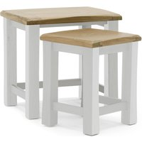 Product photograph showing Amberly Wooden Nest Of Tables In Grey