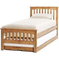 Amelia Hevea Wooden Single Bed And Guest Bed In Honey Oak