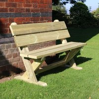 Product photograph showing Amersham Wooden Outdoor Seating Bench