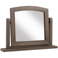 Ametis Wooden Dressing Table Mirror In Grey Washed Oak