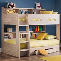 Amilia Wooden Bunk Bed In Sonoma Oak