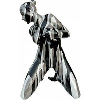 Product photograph showing Amorous Lady Sculpture Pose Two In Black And White