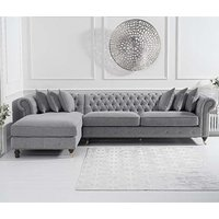 Nesta Linen Left Facing Chaise Sofa Bed In Grey