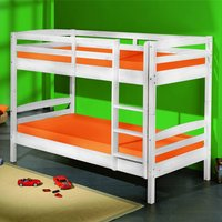 Product photograph showing Annika Wooden Bunk Bed In White