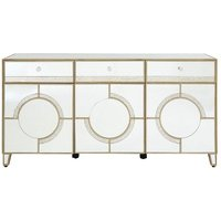 Antibes Mirrored Glass Sideboard With 3 Doors And 3 Drawers