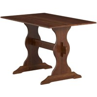 Product photograph showing Aosta Wooden Dining Table In Pine Mocha
