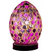 Apollo Mini Mosaic Glass Egg Table Lamp In Purple Tile