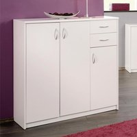Aquarius Large Sideboard In White With 3 Doors And 2 Drawers