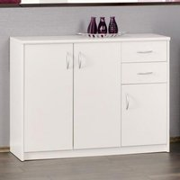 Aquarius Medium Sideboard In White With 3 Doors And 2 Drawers