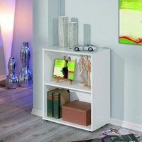 Product photograph showing Arco Wooden Bookcase In White With 1 Shelf