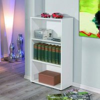 Product photograph showing Arco Wooden Bookcase In White With 2 Shelves