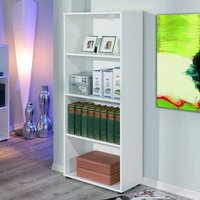Product photograph showing Arco Wooden Bookcase In White With 3 Shelves