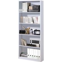 Product photograph showing Arctic Wooden Book Shelf In White With 5 Shelves