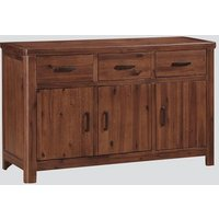 Areli Wooden Sideboard In Dark Acacia With Three Doors