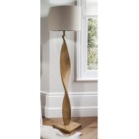 Product photograph showing Argenta Floor Lamp With Natural Wooden Stand