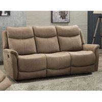 Arizones Fabric 3 Seater Manual Recliner Sofa In Caramel