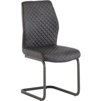 Product photograph showing Ark Faux Leather Dining Chair In Grey