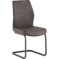 Product photograph showing Ark Faux Leather Dining Chair In Taupe