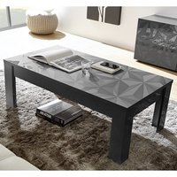 Product photograph showing Arlon Modern Coffee Table Rectangular In Grey High Gloss