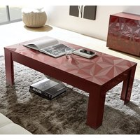 Product photograph showing Arlon Modern Coffee Table Rectangular In Red High Gloss
