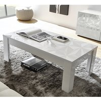 Product photograph showing Arlon Modern Coffee Table Rectangular In White High Gloss