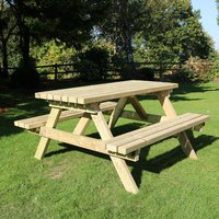 Product photograph showing Arnos Deluxe Wooden Picnic Dining Set