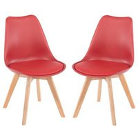 Product photograph showing Arturo Red Bistro Chair In Pair