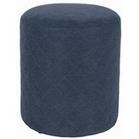 Product photograph showing Arturo Upholstered Round Fabric Stool In Blue