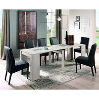 Aspen Extending Eucalyptus Oak Dining Table With 8 Miko Chairs