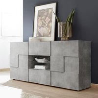 Product photograph showing Aspen Wooden 2 Doors Sideboard In Concrete With 2 Drawers