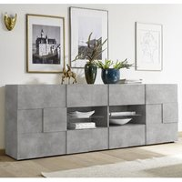Product photograph showing Aspen Wooden 2 Doors Sideboard In Concrete With 4 Drawers