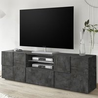 Product photograph showing Aspen Wooden Large Tv Stand In Oxide With 2 Doors 1 Drawer