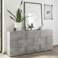 Product photograph showing Aspen Wooden Sideboard In Concrete With 3 Doors