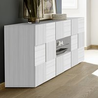 Product photograph showing Aspen Wooden Sideboard In Matt White With 2 Doors 2 Drawers