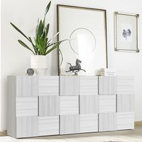 Product photograph showing Aspen Wooden Sideboard In Matt White With 3 Doors