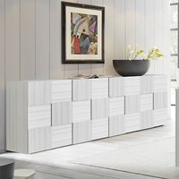 Product photograph showing Aspen Wooden Sideboard In Matt White With 4 Doors