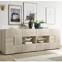Aspen Wooden Sideboard In Sonoma Oak With 2 Doors 4 Drawers