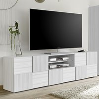 Product photograph showing Aspen Wooden Tv Stand In Matt White With 2 Doors 1 Drawer