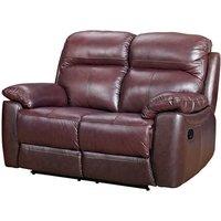 Astona Leather 2 Seater Recliner Sofa In Chestnut