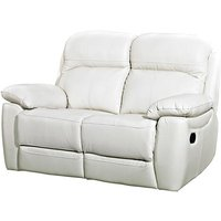 Astona Leather 2 Seater Recliner Sofa In Ivory
