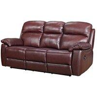 Astona Leather 3 Seater Recliner Sofa In Chestnut