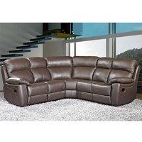 Astona Leather Corner Recliner Sofa In Brown