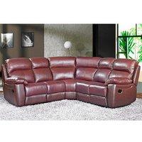 Astona Leather Corner Recliner Sofa In Chestnut