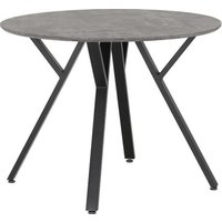 Product photograph showing Athens Round Dining Table In Concrete Effect