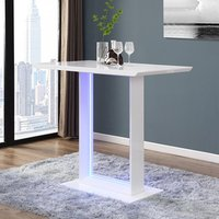 Product photograph showing Atlantis Led High Gloss Bar Table In White