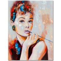 Product photograph showing Audrey Hepburn Canvas Wall Art In Multicolour