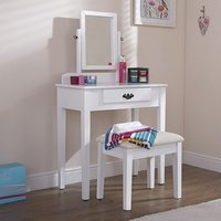 Augusto Contemporary Dressing Table Set In White