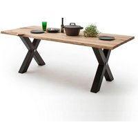 Austell Wooden Large Dining Table Rectangular In Cracked Oak